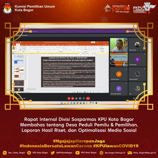 Rapat Internal Divisi Sosparmas KPU Kota Bogor