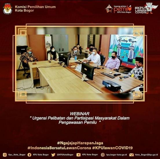 Webinar Bawaslu Kota Bogor