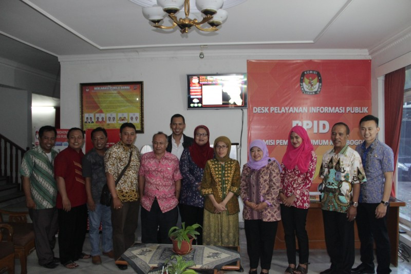 Monitoring KPU Provinsi Jawa Barat ke KPU Kota Bogor