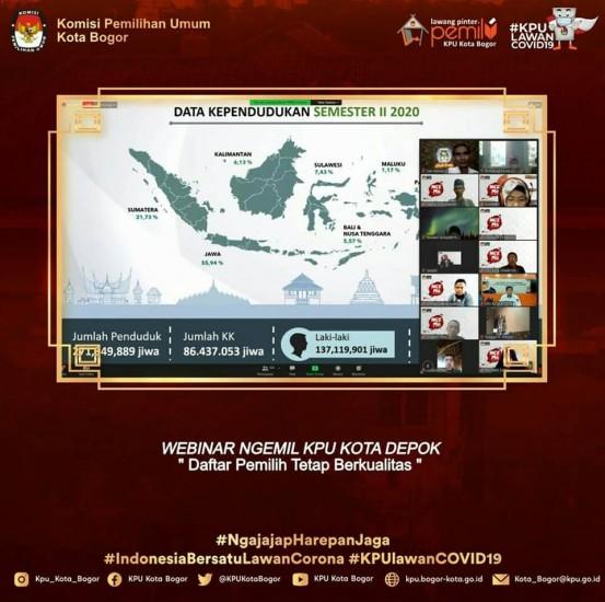 Webinar KPU Kota Depok