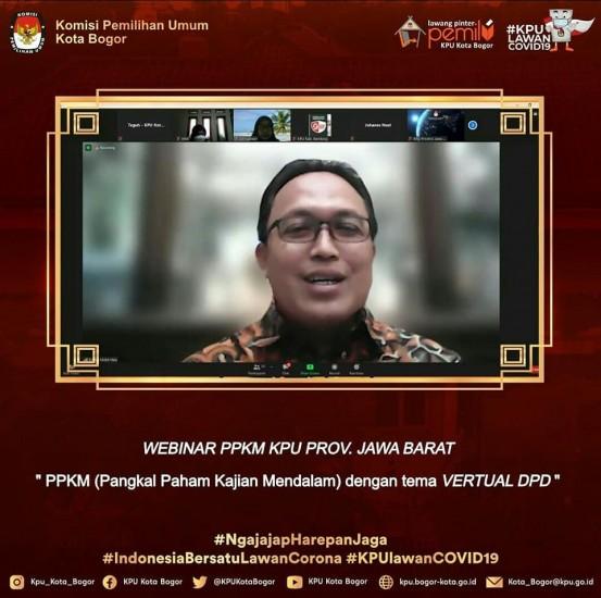 Webinar PPKM KPU Prov. Jawa Barat