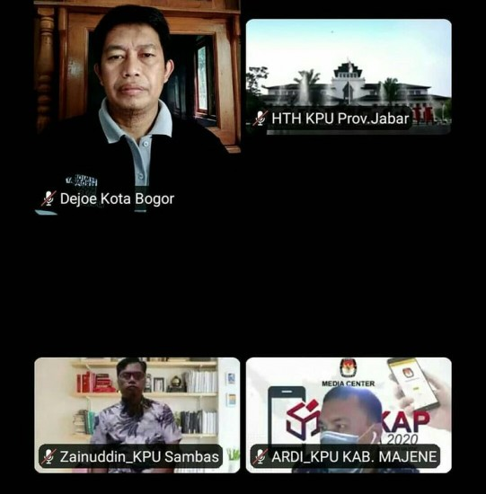 Webinar PPKM KPU Provinsi Jawa Barat