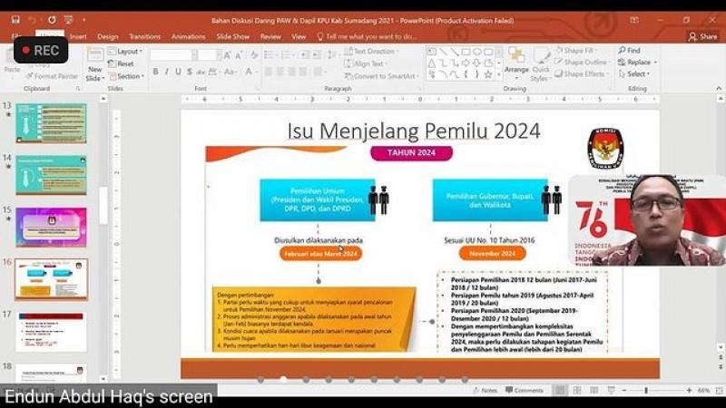 Webinar KPU Kabupaten Sumedang