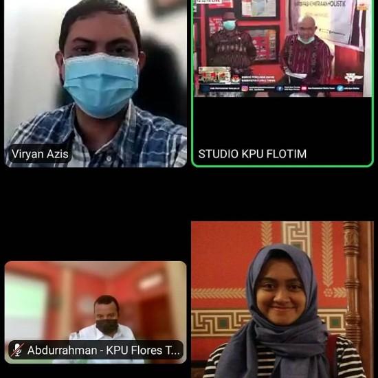 Webinar KPU Kab Flores Timur
