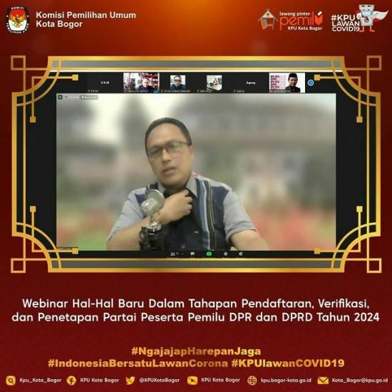 Webinar KPU Provinsi Jawa Barat