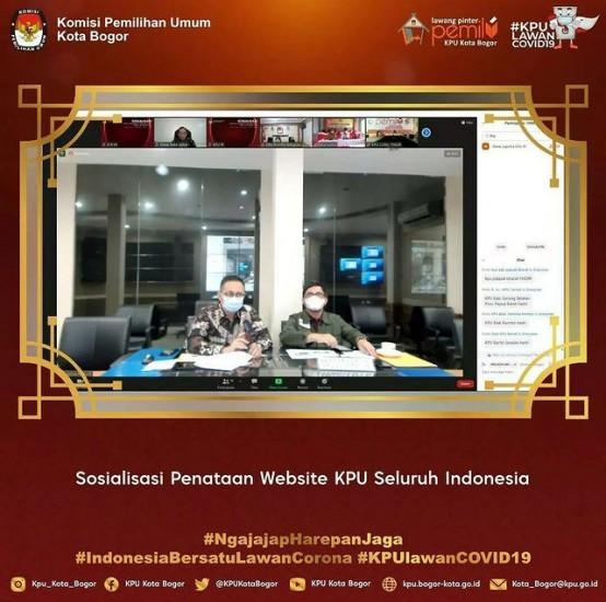 Sosialisasi Penataan Website KPU Seluruh Indonesia