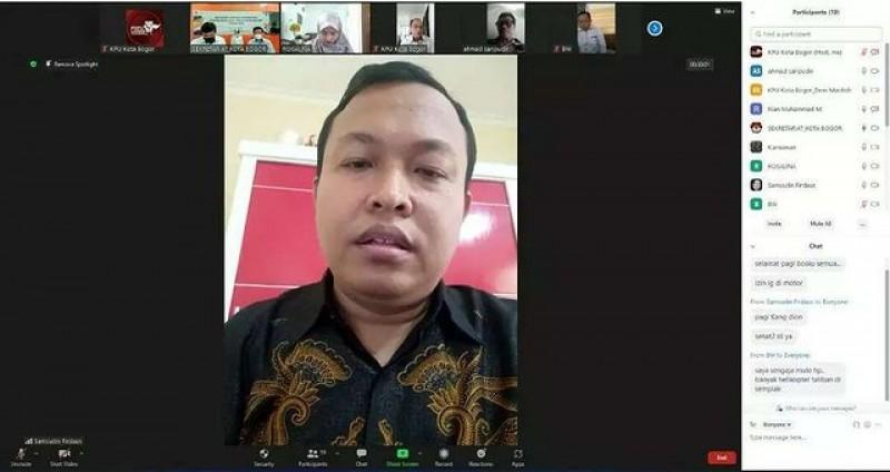 Apel & Koordinasi Online KPU Kota Bogor