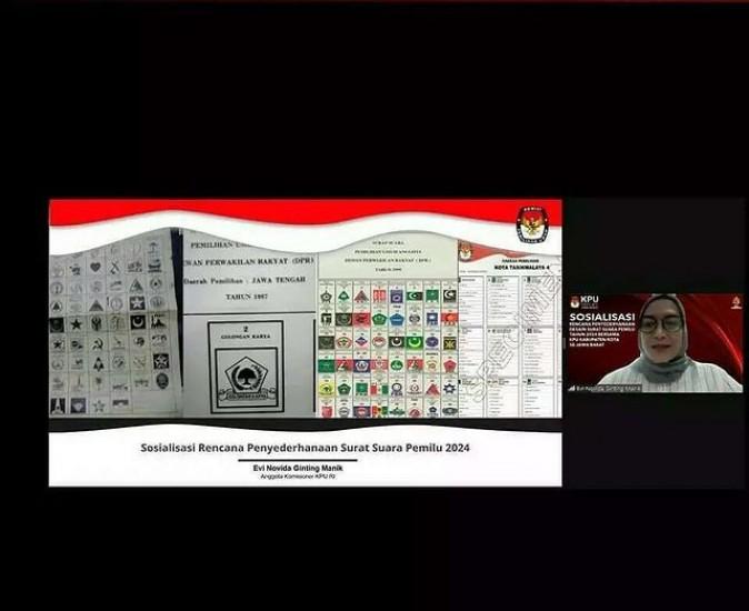 Sosialisasi Rencana Penyerdehanaan Desain Surat Suara Pemilu Tahun 2024