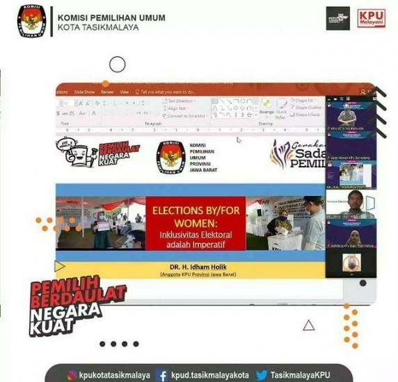 Webinar KPU Kota Tasikmalaya