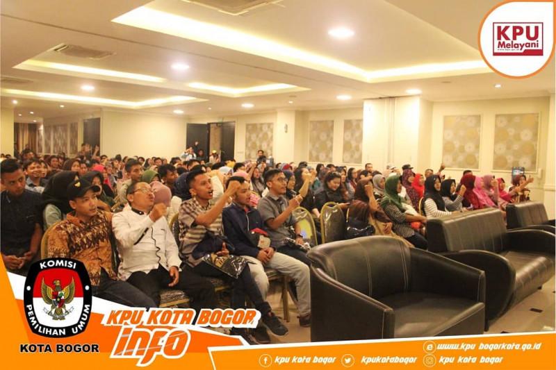 250 Warga Kota Bogor hadiri Sosialisasi Pendidikan Pemilih Pemilu Serentak 2019