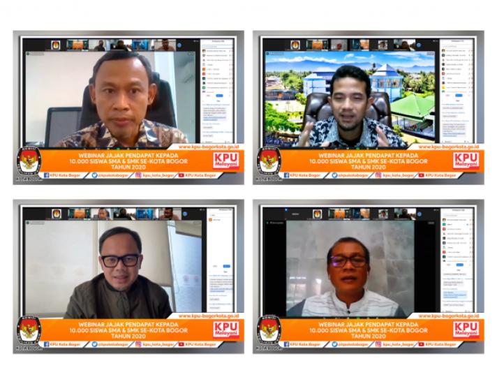 Riset Demokrasi 2020 : 10.000 siswa NGOPI bareng KPU Kota Bogor
