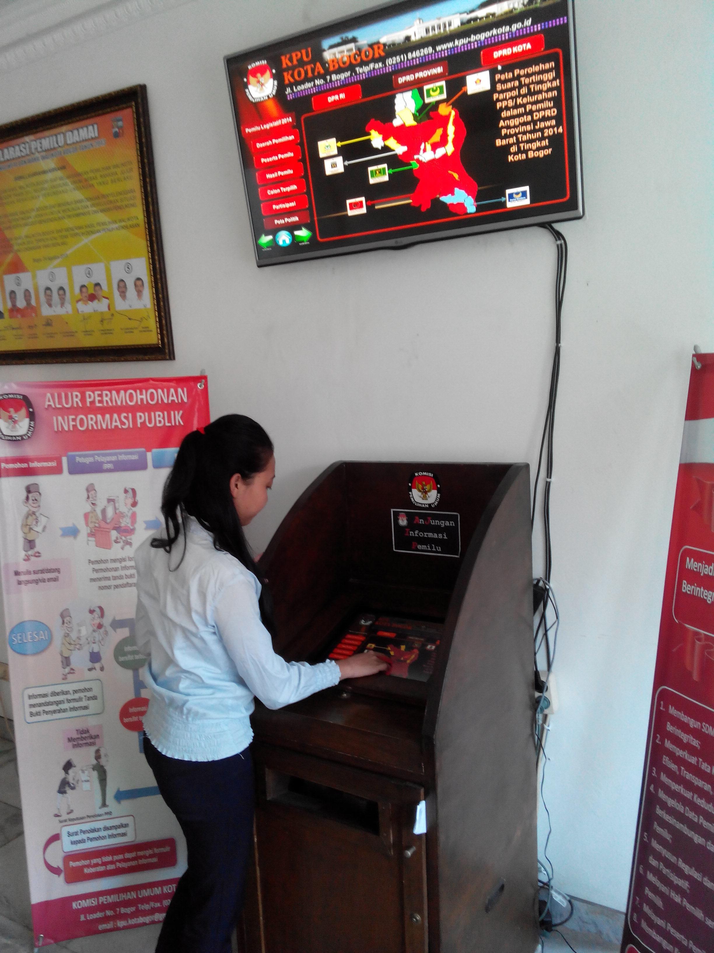 KPU Kota Bogor Miliki Anjungan Informasi Pemilu