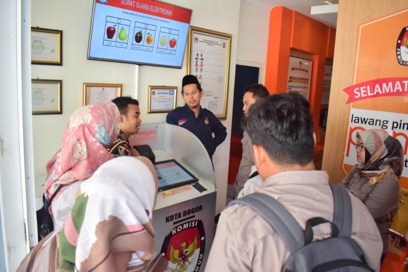 KPU Kabupaten Kediri mendatangi KPU Kota Bogor