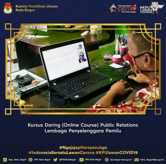 Kursus Daring Public Relation KPU Provinsi Jabar