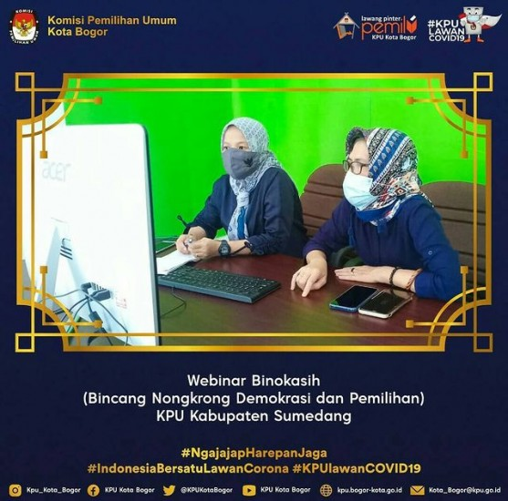 Webinar Binokasih KPU Kab. Sumedang