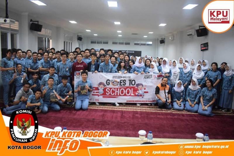 KPU Kota Bogor Goes To School Tingkatkan Partisipasi Pemilih Pemula