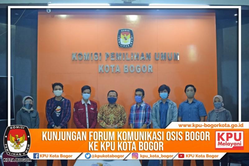 Kunjungan Forum Komunikasi OSIS Bogor ke KPU Kota Bogor