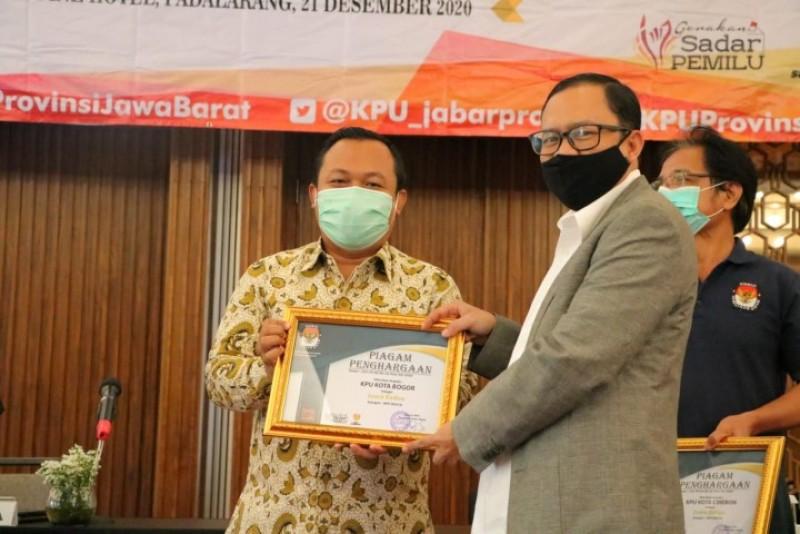 Sabet 5 Penghargaan Terbaik, KPU Kota Bogor Terbaik se Jawa Barat
