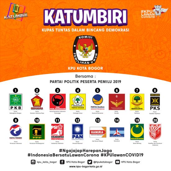 Sosialisasikan Parpol Peserta Pemilu 2019, KPU Kota Bogor Gelar KATUMBIRI