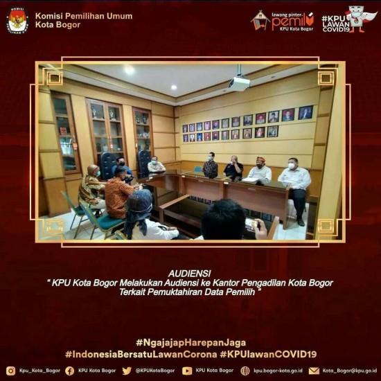 Audiensi KPU Kota Bogor ke Kantor Pengadilan Kota Bogor
