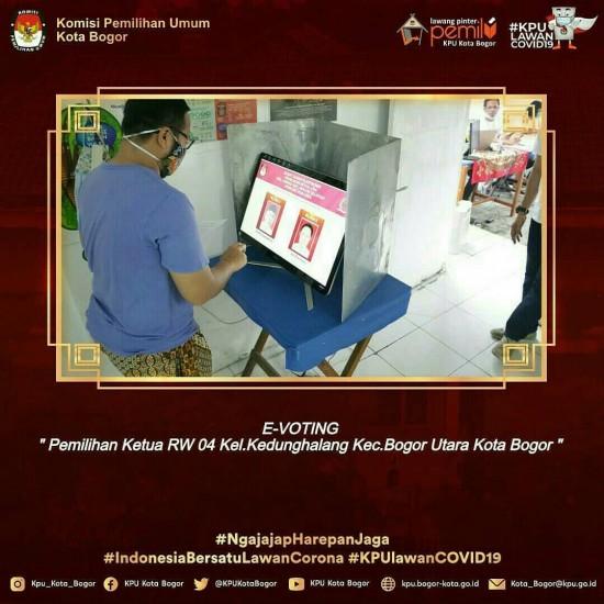 E-VOTING PEMILIHAN KETUA RW.04 KEDUNGHALANG