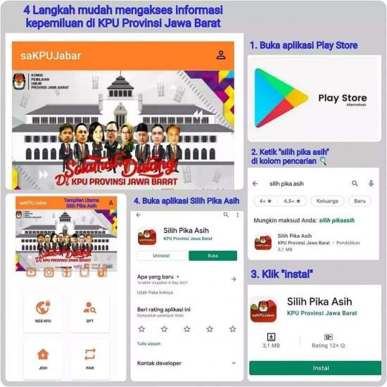 Aplikasi Silih Pika Asih KPU Jabar