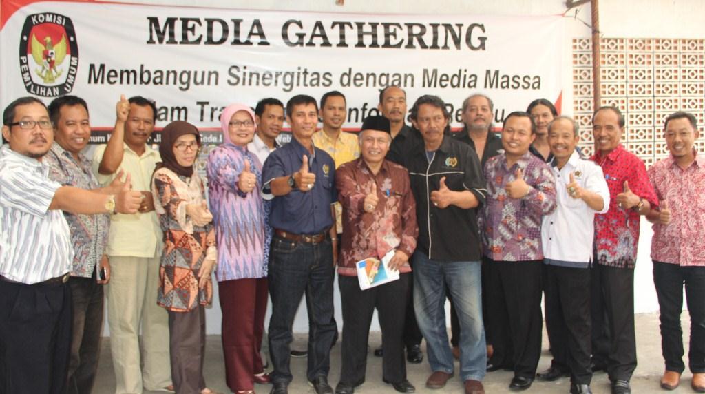 Media Gathering KPU Kota Bogor ke PWI Bogor